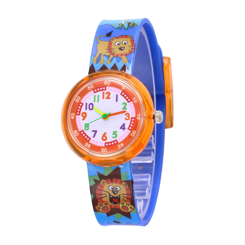 11 Designs Christmas Gift Cute Lion Girl Watch Children Fashion Watch SportS Jelly Cartoon New Boy Watch Relogio Masculino