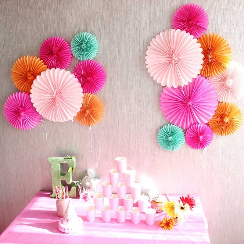 10cm 15cm 20cm 25cm 30cm 40cm Tissue Paper Fans Pinwheels Hanging Flower Paper Crafts for Baby Showers Wedding Party Decoration