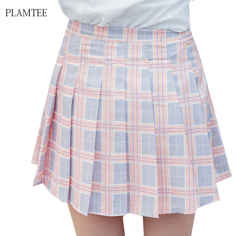 Lands' End School Uniform Women's Plaid Pleated Skirt Below the Knee. Sold by Lands' End + 3. $ Lands' End School Uniform Women's Side Pleat Plaid Skort Above Knee. Sold by Lands' End + 3. $ Lands' End School Uniform Girls Plus Side Pleat Plaid Skort Above Knee.