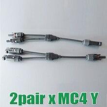 2Pairs x MC4 Connector Y branch M M F and F F M mc4 y Solar