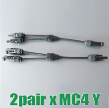 2Pairs x MC4 Connector Y branch M/M/F and F/F/M , mc4 y Solar Panel Cable Branch Connector