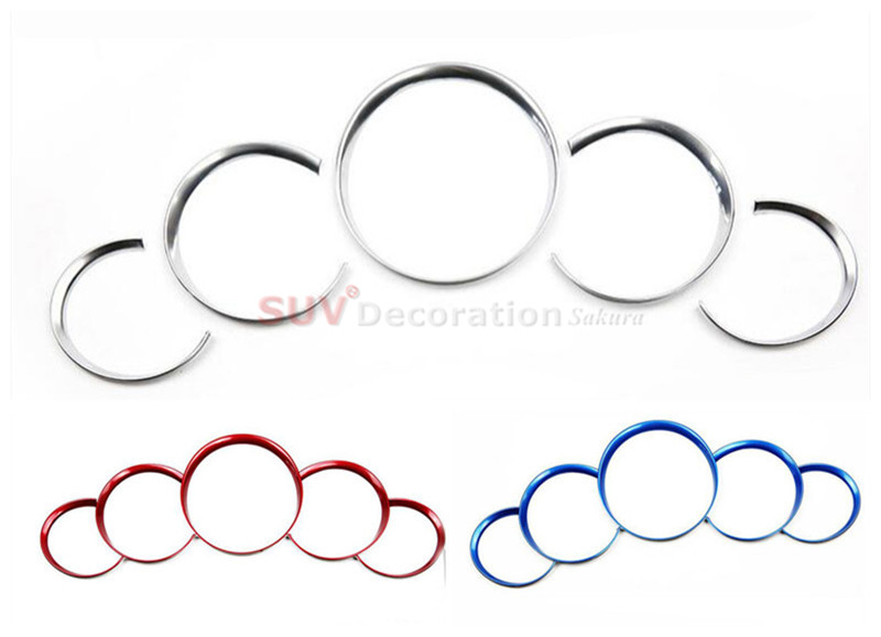 New! NEW!! For Porsche Cayenne 2011 - 2016 Chrome ABS Dashboard Console Decorative Ring Trim 5pcs new