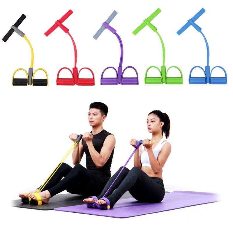 Direnç Eğitim Grupları Tüp Egzersiz egzersiz Yoga 8 Tip Vücut Geliştirme Fitness Ekipmanları Aracı