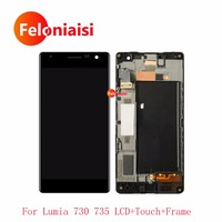 10Pcs Lot DHL 4 7 For Nokia Lumia 730 735 Full Lcd Display With Touch Screen