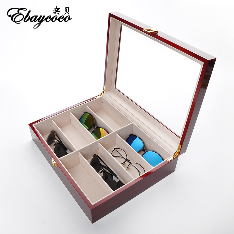 EBAYCOCO luxurious red Jewelry Accessories Packaging Red Matte 8 Table Box Jewelry Box fashion Display Full box watch case red box сортер red box шар