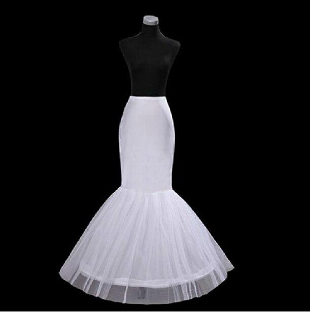 Free Shipping Mermaid Petticoat 1 Hoop Bone Elastic Trumpet Crinoline Wedding Accessories Hot Sale High Quality Cheap In Stock