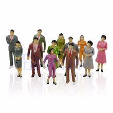 100Pcs 1:87 Building Layout Model People Train HO Scale Painted Figure Passenger(China)
