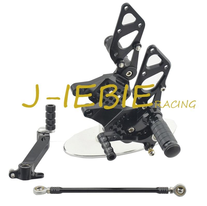 CNC Racing Rearset Adjustable Rear Sets Foot pegs Fit For Ducati 749 999 R/S R S 2003 2004 2005 2006 BLACK cnc brake clutch levers fit for ducati 1098 s tricolor 2007 2008 07 08 999 s r 2003 2004 2005 2006 03 04 05 06