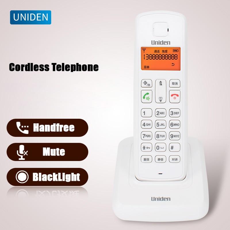 Teléfono inalámbrico Digital con alarma de interfono, llamada de identificación, retroiluminado, LCD, teléfono inalámbrico fijo para oficina, Hogar y Negocios