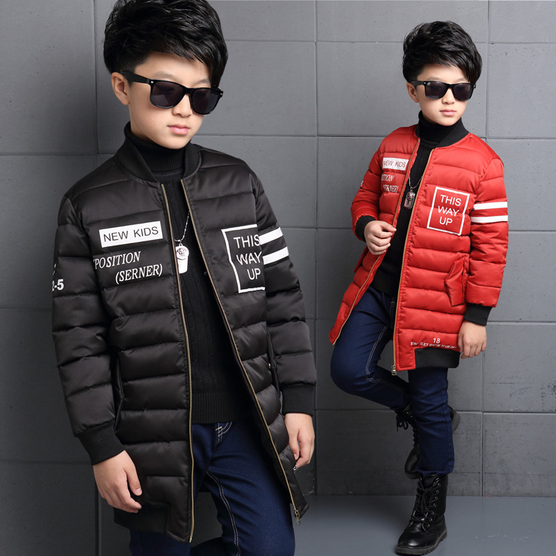ФОТО The New 2016 Han Edition Child Cotton-padded Jacket Boy Winter Children Stripes Child Cotton Baby Clothes