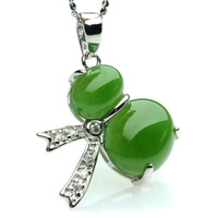 yu xin yuan boutique jewels natural green jasper 925 silver inlay jade lady pendant necklace jewelry