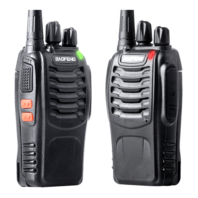 מגניב ביותר 2 יחידות Baofeng BF 888S ווקי טוקי bf 888 s 5 w דו דרך רדיו נייד MW-44