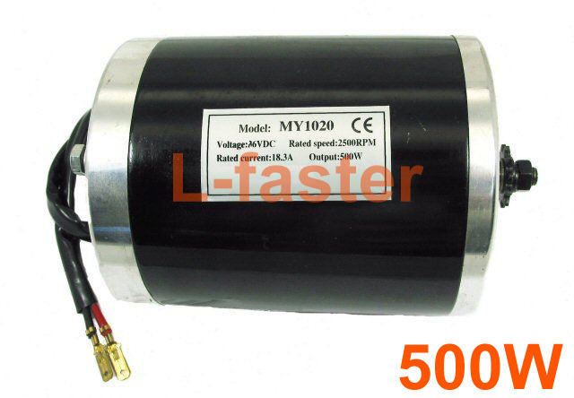 36V48V 500W Electric High Speed Motor Electric Brushed