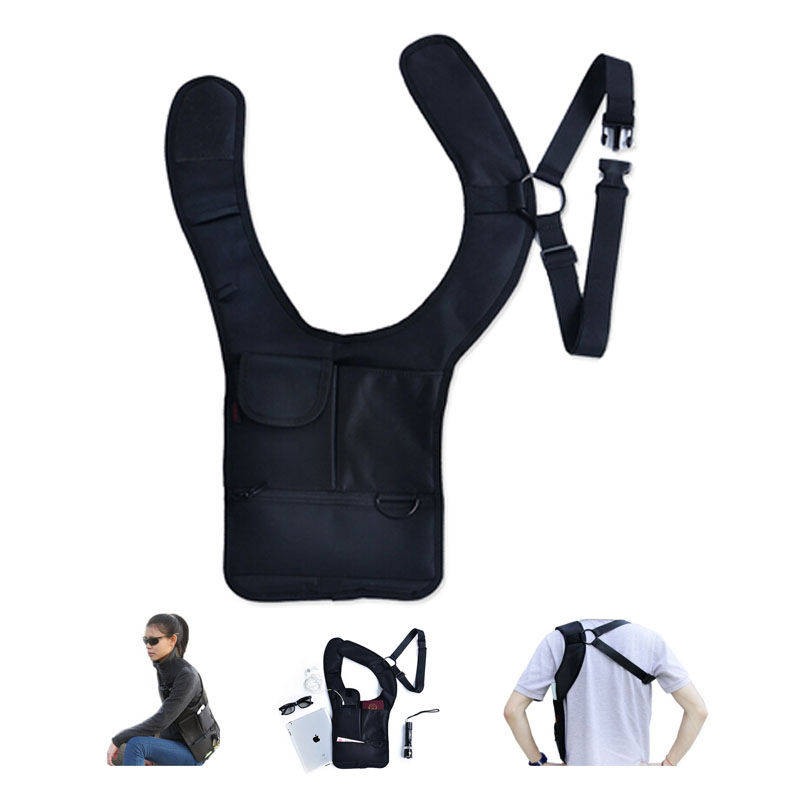 Nylon Multi-purpose Hidden Underarm Holster Shoulder Bag Outdoor Sport Storage Bag For Passport coin key pen phone pad
