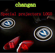 2pcs HD car door light Alsvin v5 EADO CS35 CS75 V5 chang'an LED Door Logo Projector Light 3d Ghost Shadow Light no drill