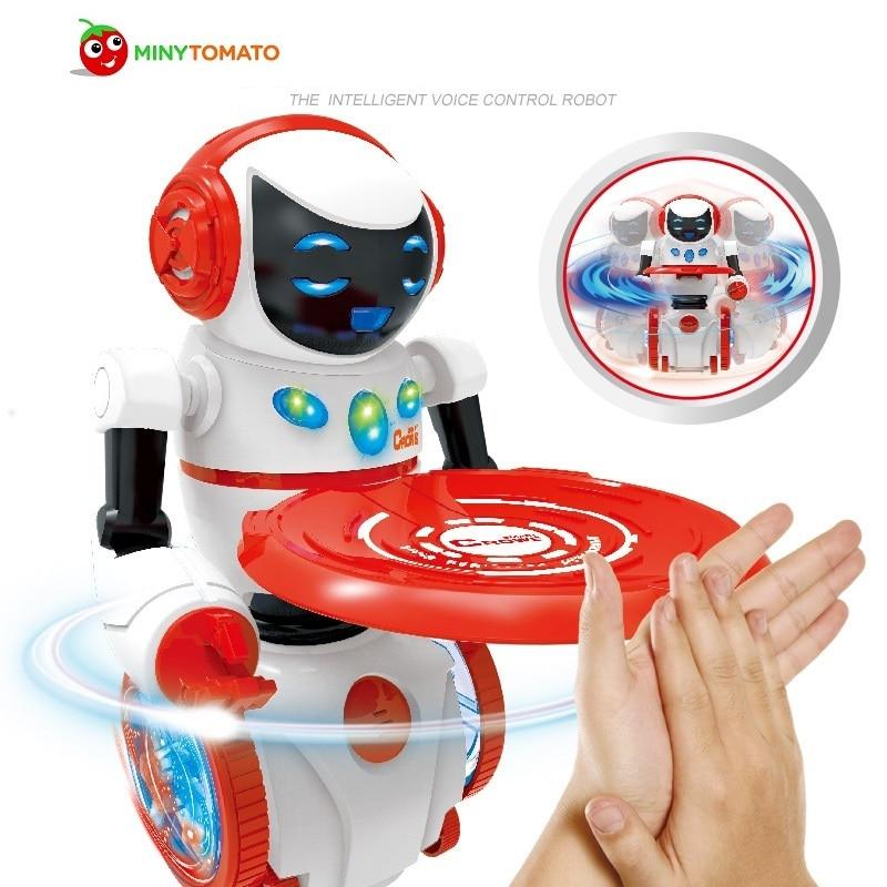 Intelligent robot RC Robot Remote Voice Control Music Light Electronic Toy Robots Walk Musical Children Boy Gift