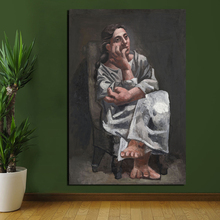 Pablo Picasso Donna Seduta HD Canvas Posters Prints Marble Abstract Wall Art Painting Decorative Picture Modern Home Decoration