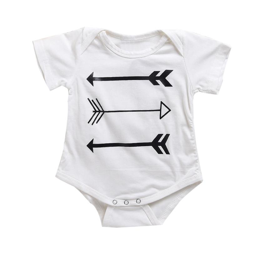 LONSANT 2018 summer Newborn baby short-sleeved jumpsuit printed baby onesies newborn clothes cartoon cute jumpsuit cute