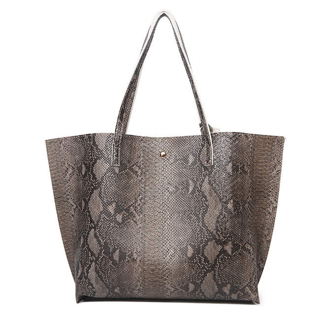 5f63a7e4fee1 Female Leather Bags Fashion Snake Pattern Tote Bag Top Quality Leather  Handbags Big Size Casual Clutch Shoulder Bag High Quality