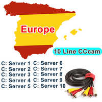 Free test Cccam 7/10lines 12 months Europe Server Stable fast HD for Italy  Spain Arabic Cline DVB-S2 Satellite Receiver