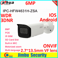 Dahua 6mp POE with Build in Microphone SD Card slot IP Camera IPC HFW4631H ZSA 6MP Upgrade version of IPC HFW4431R Z Camera
