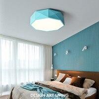 Nordic Geometric Dining Room Ceiling Light Postmodern Macarons Lovely Bedroom Ceiling Lamp Living Room Bar Kids LED Lights