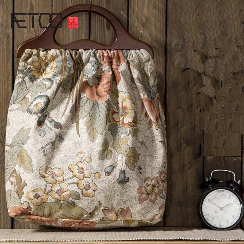 AETOO Original female handbag 2017 new fashion lady large capacity Messenger bag art portable retro cotton linen handbag women new arrival fashion large capacity messenger bags handbag female 100