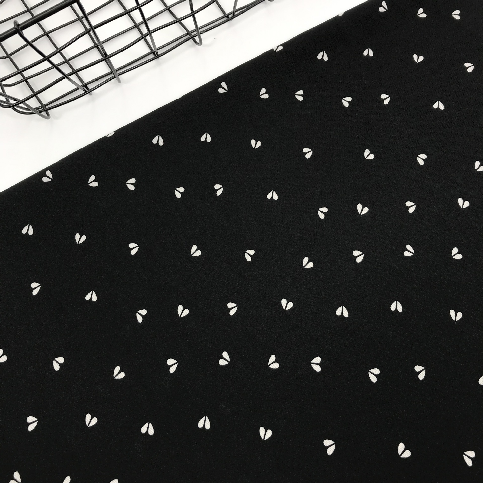 100 Polyester Heart Printed Chiffon Fabric DIY Sewing Patchwork Spring and Summer Chiffon Dress Pants Apparel Textile Material in Fabric from Home Garden