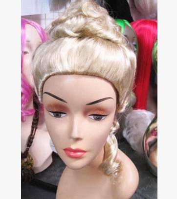 Us 42 9 Golden Royal Haar Europaischen Blonde Haar Europaischen Locken Hubsche Prinzessin Haare Maskerade Partei In Golden Royal Haar