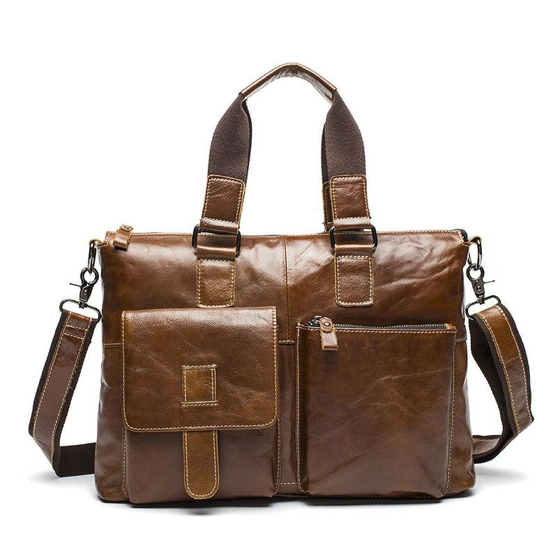 British Classic Men Business Handbag Leather Tote Satchel Bag Office Work Crossbody Bags Male Sling Shoulder Bolsa