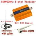 2016 NUEVO LCD GSM 900 Mhz Amplificador de Señal de Teléfono Móvil, GSM Repetidor de Señal/Booster, cargador de corriente Con Cable + Antena 1 UNIDADES