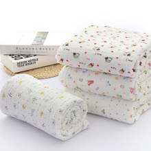 6 layers 100% cotton baby blanket newborn cartoon bottle printing bedding Swaddle towel hug 90 * 90cm