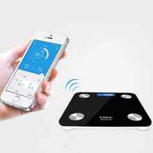 Hot Sale Smart Bathroom Body Weight Scales Floor Household Weighting Fat Scale Bluetooth APP Tempered Glass 17 Index kg lb st