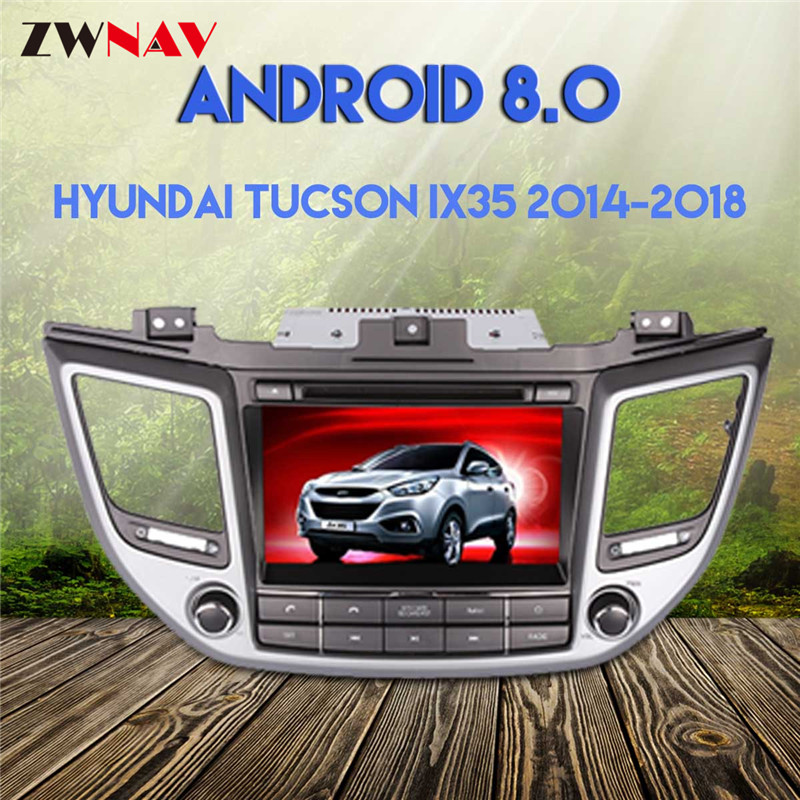 Android 8.0 4g + 32g GPS pour Hyundai TUCSON IX35 2014 2015 2016 2017 2018 voiture dvd gps navigation de voiture lecteur vidéo voiture stéréo radio