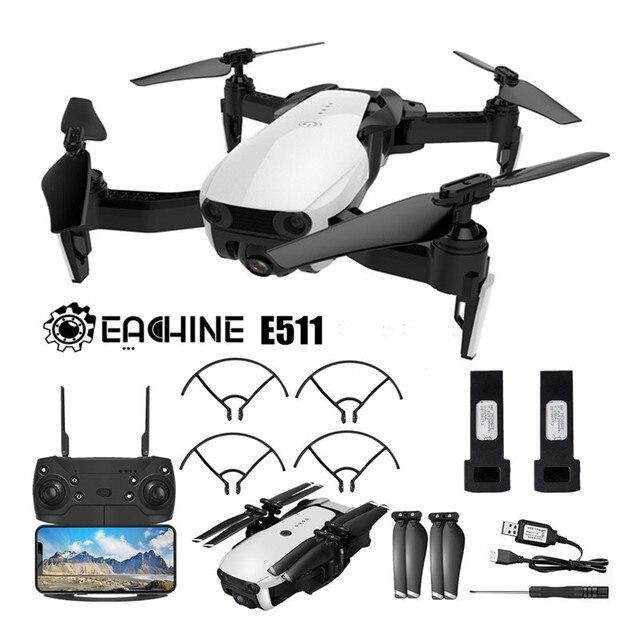 Eachine E511 WIFI FPV 1080 P/720 P kamera hd tryb bezgłowy 16 minut czas lotu składany zdalnie sterowany dron quadcopter ulepszona wersja E58