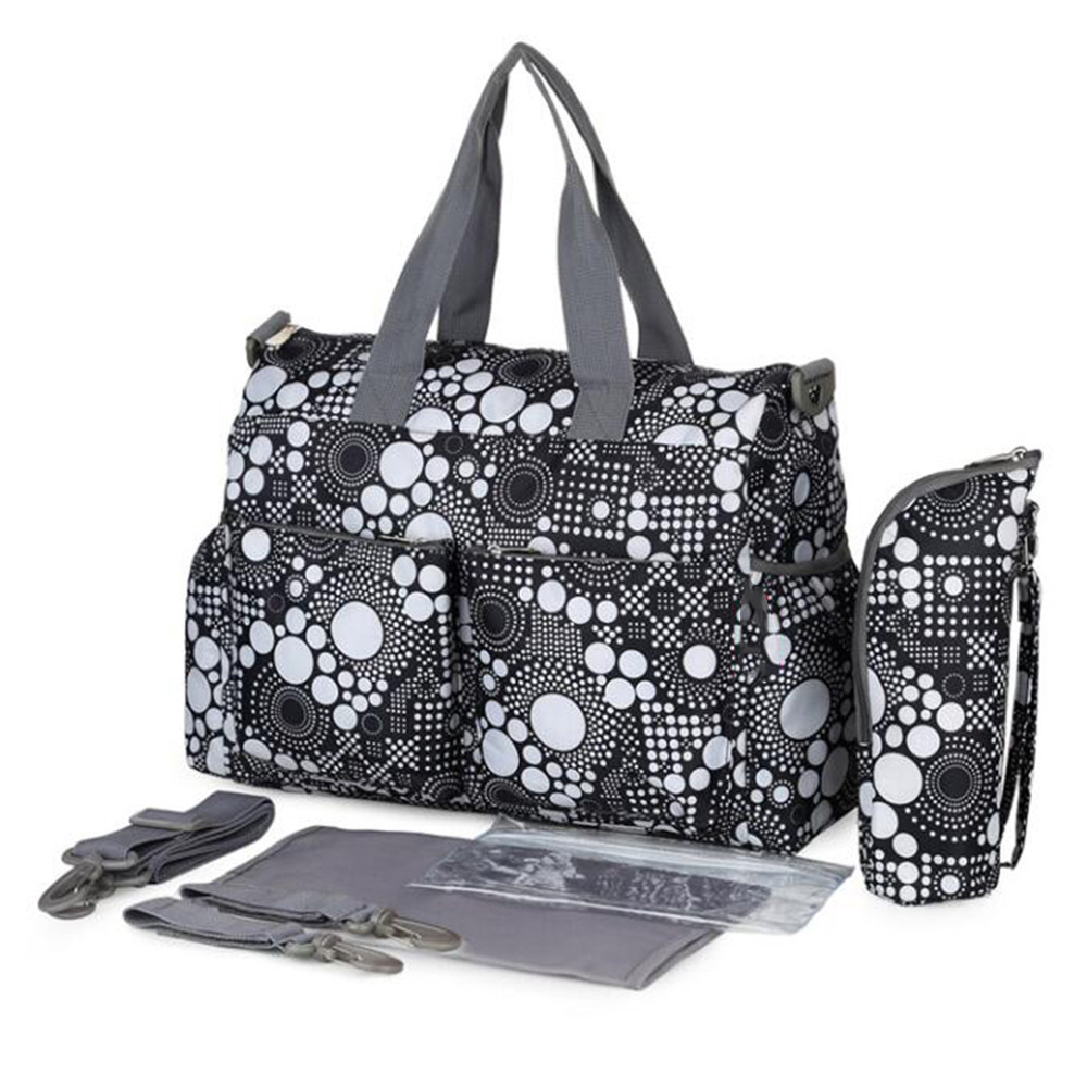 Multifunctional Diaper Bags Mother Bag High Quality Maternity Mummy Nappy Bags Flower Style Mom Handbag Baby Stroller Bag high quality cute dot baby diaper nappy bag maternity baby bags for mom multifunctional mother care bag durable stroller bag