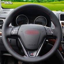 BANNIS сшитый вручную черный кожаный чехол рулевого колеса автомобиля для Great Wall Haval New Hover H6 Hover H1