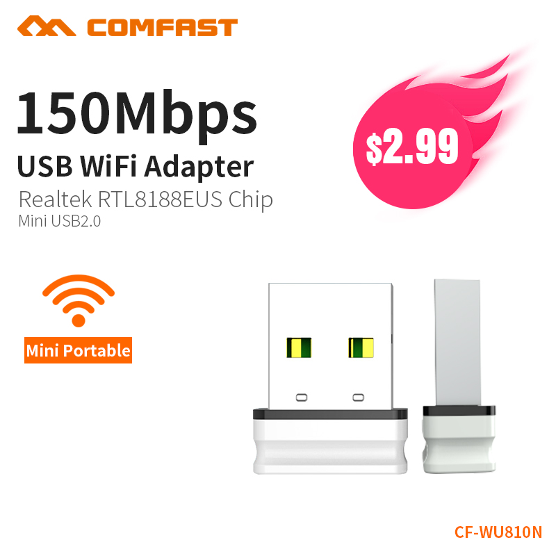 Comfast Mini Network Card Module Laptop 150Mbps USB2.0 Wireless Adapter WIFI Access Points Wireless Dongle RTL8188EU CF-WU810N