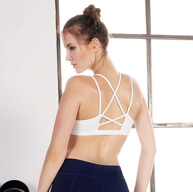 379cc7bbd8 placeholder Sexy Backless Sports Bra Top Fitness Bras Gym Women Strappy  Brassiere Sport Top Vest Padded Yoga