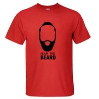 New High Quality Harden Fear The Beard Cotton T Shirts O Neck Men Short Sleeve Tops
