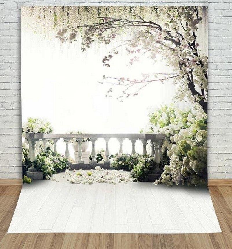 где купить 5x7ft Willow Tree Spring Flower Garden Coastal  backdrop Vinyl cloth Computer printed wedding  photography studio background по лучшей цене