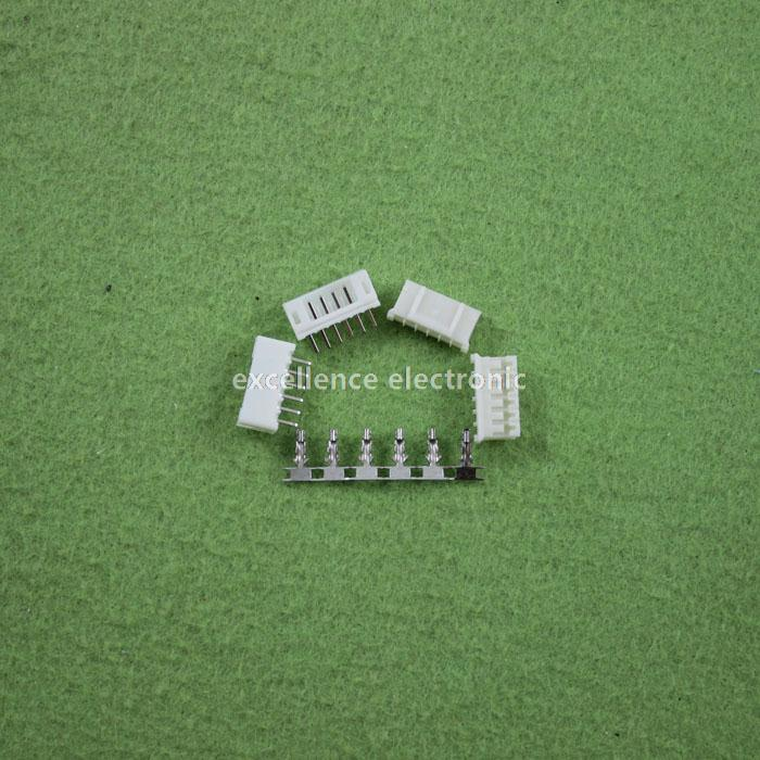 100 Sets, Micro JST 2.0 PH 6-Pin Connector plug Male ,Female, Crimps jst xh2 54 2 3 4 5 6 78 9 10 pin connector plug male female crimps x 50sets