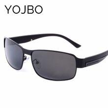3f675875e Óculos De Sol Dos Homens Polarizados YOJBO Homem Retro Do Vintage Da Marca  do Desenhador 2018 Preto de Alta Qualidade Frame Da L..