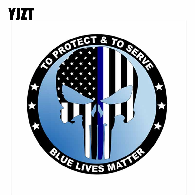 Spartan Blue Lives Matter Police USA American Thin Line Flag Car Decal Sticker