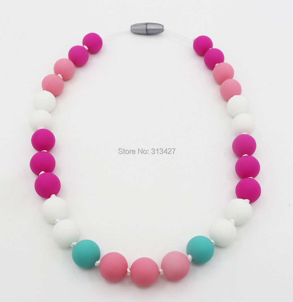 Fda approved baby silicone teething necklace to wear for for When can babies wear jewelry