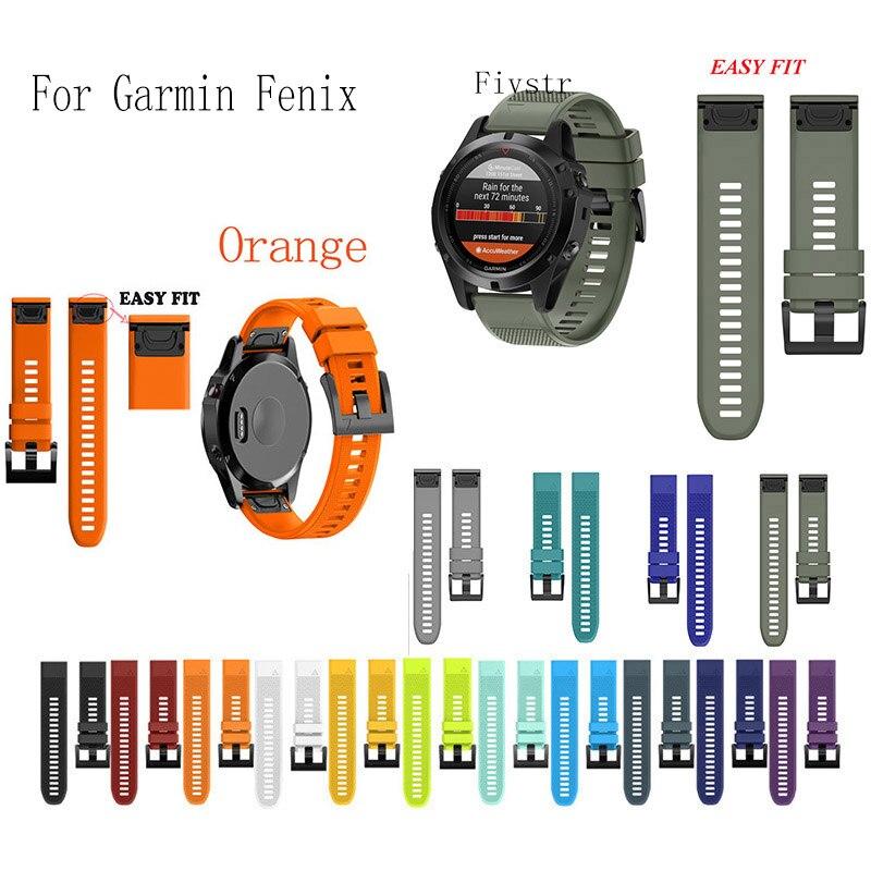 Fivstr 26 22 20mm Quick Release EasyFit Silicone Watchband WristStrap for Garmin Fenix 5X 5 5s Plus 3 3HR S60 D2 Mk1 Smart watch цены
