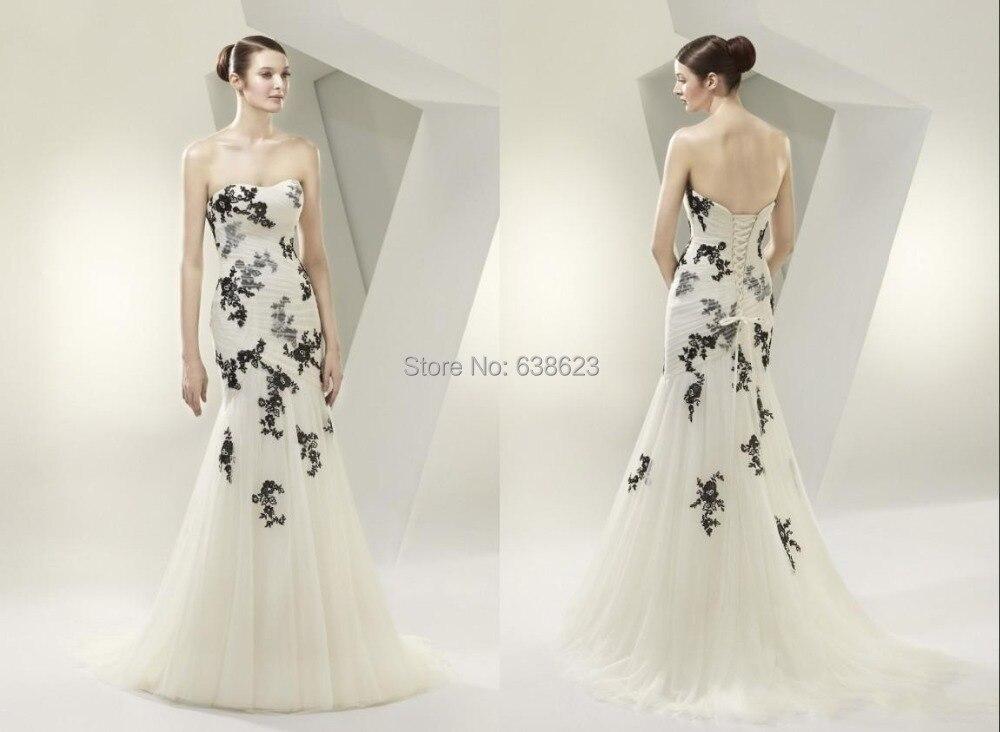 Black Wedding Dress Up : Mermaid organza black wedding dress promotion shop for promotional