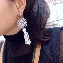 Qi Xuan_Trendy Jewelry_New Earring Elegant S925 Silver Inlay Zircon And Irregular Irregular_Factory Direct Sales