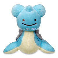 New Anime Soft Marine Reptiles Ditto As Lapras Plush Doll Stuffed Character Toys Small Size 6.3 inches