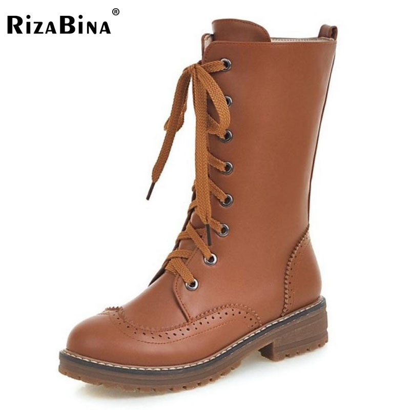 RizaBina Size 33-43 Women Half Short Boots Cross Strap Flats Boots Warm Shoes Autumn Mid Calf Boots Short Botas Women Footwears coolcept size 34 43 women half short thick bottom boots cross strap warm shoes cold winter boots mid calf botas women footwear